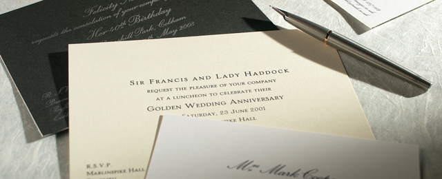 Design Your Own Bespoke Invitations