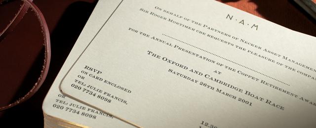 Corporate Invitations The Letter Press
