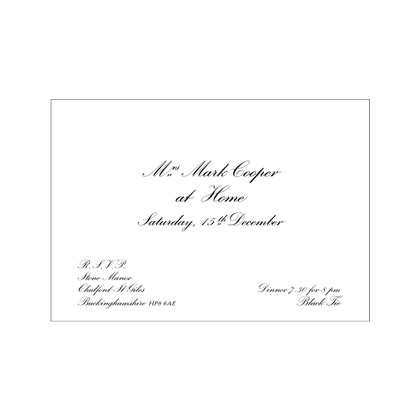 Formal Informal At Home Invitations The Letter Press