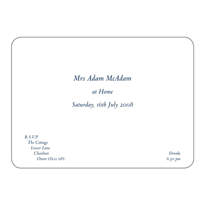Invitation card at home choice image invitation sample and formal informal at home invitations the letter press contemporary at home invitation prices from 22300 for stopboris Gallery