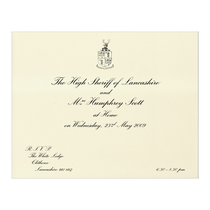 Formal informal at home invitations the letter press stopboris Choice Image