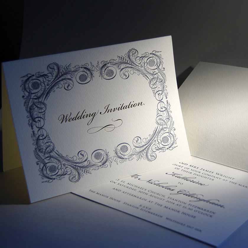 Baroque Personalised Wedding Invitations | The Letter Press