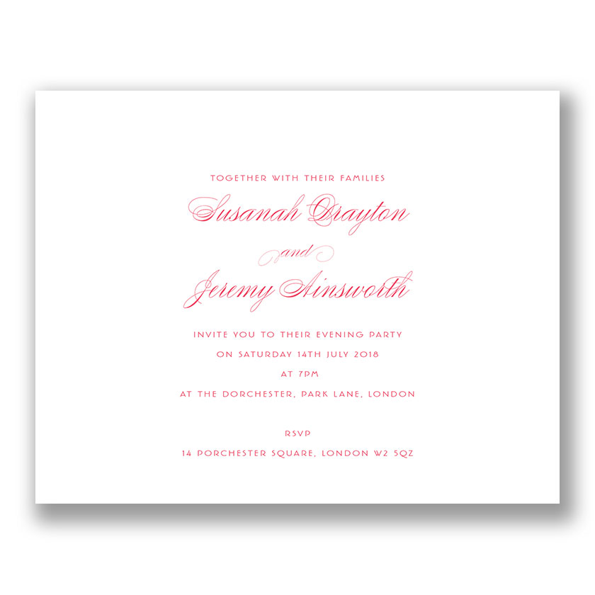 Chelsea Personalised Wedding Invitations | The Letter Press