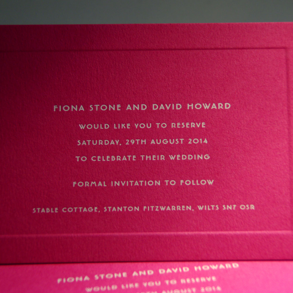 Old Bond Street Personalised Wedding Invitations | The Letter Press