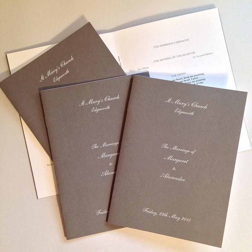 Pimlico Personalised Wedding Invitations | The Letter Press