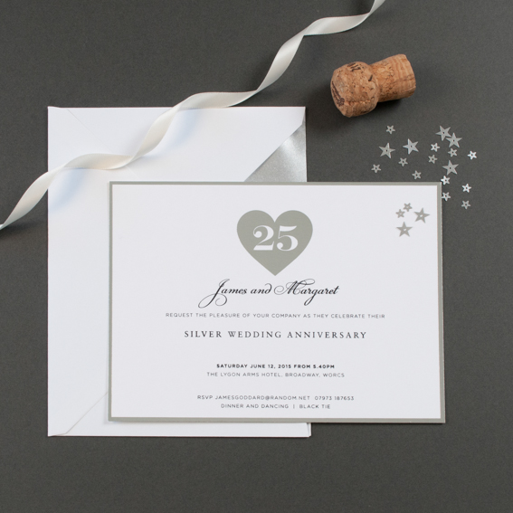 anniversary party invitations the letter press
