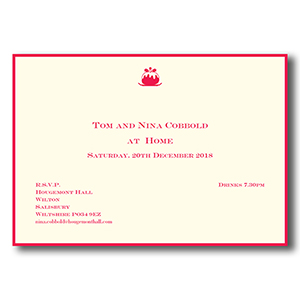 christmas invitations the letter press