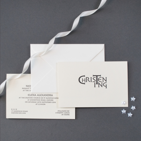 luxury personalised christening invitations the letter press