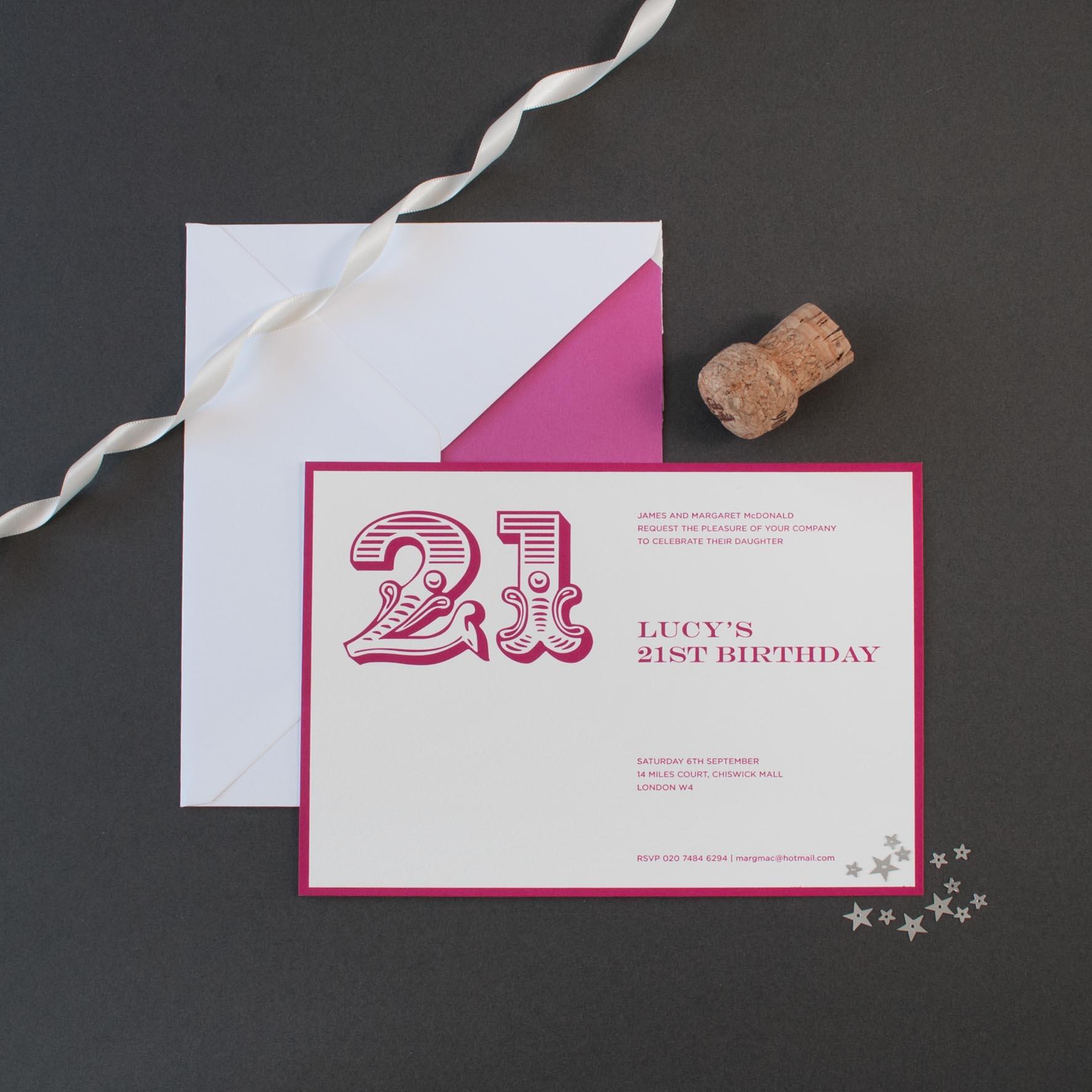 Birthday invitations the letter press filmwisefo