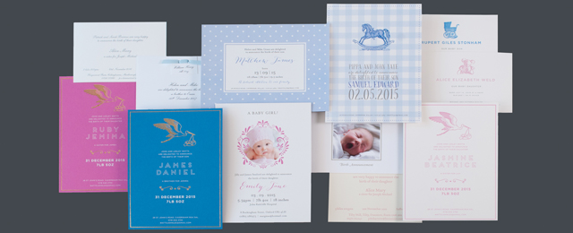 Luxury Birth Announcement Cards