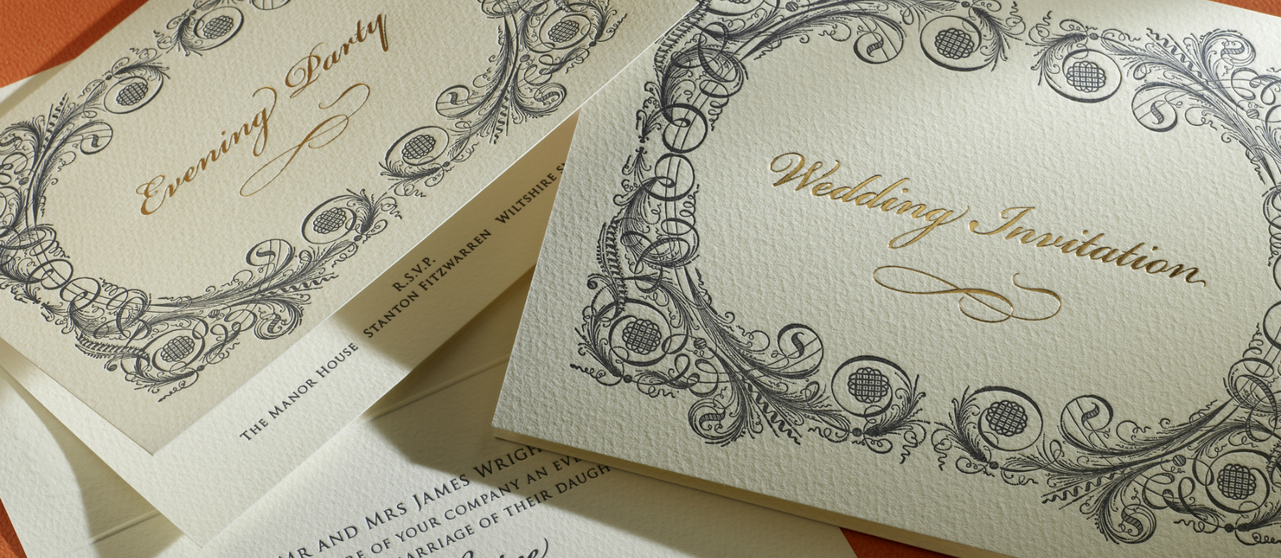 Baroque Personalised Wedding Invitations – Exclusive Wedding Invitation Cards