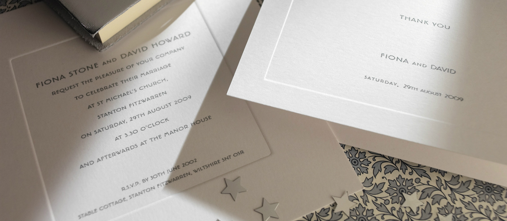 Bond Street Personalised Wedding Invitations | The Letter Press
