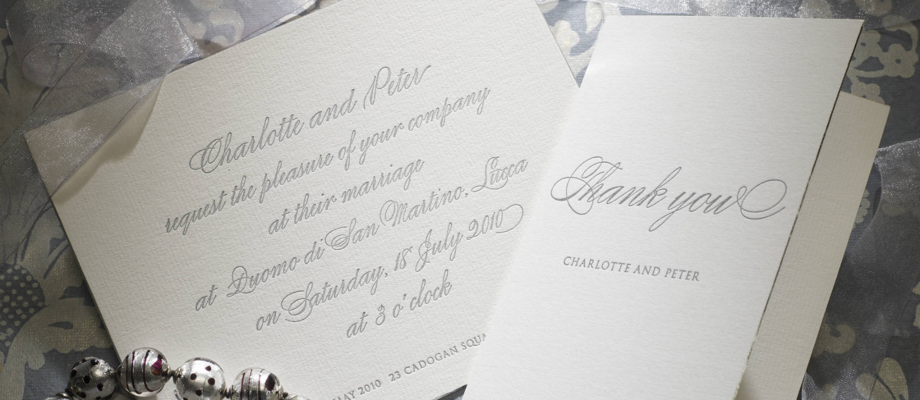 Calligraphy personalised wedding invitations the letter