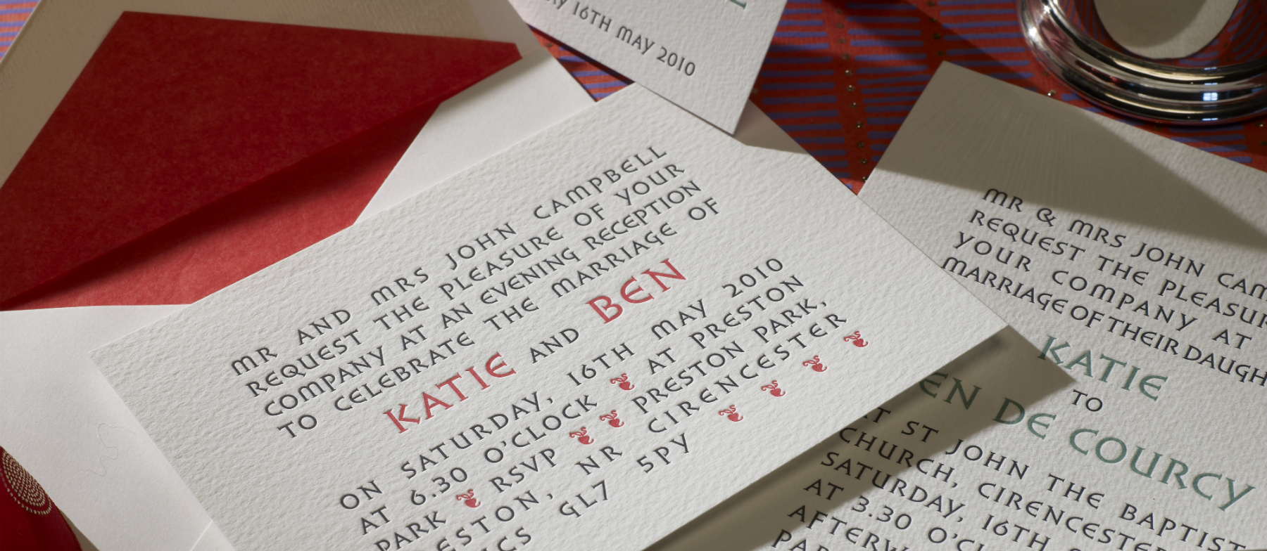 De Courcy Personalised Wedding Invitations | The Letter Press