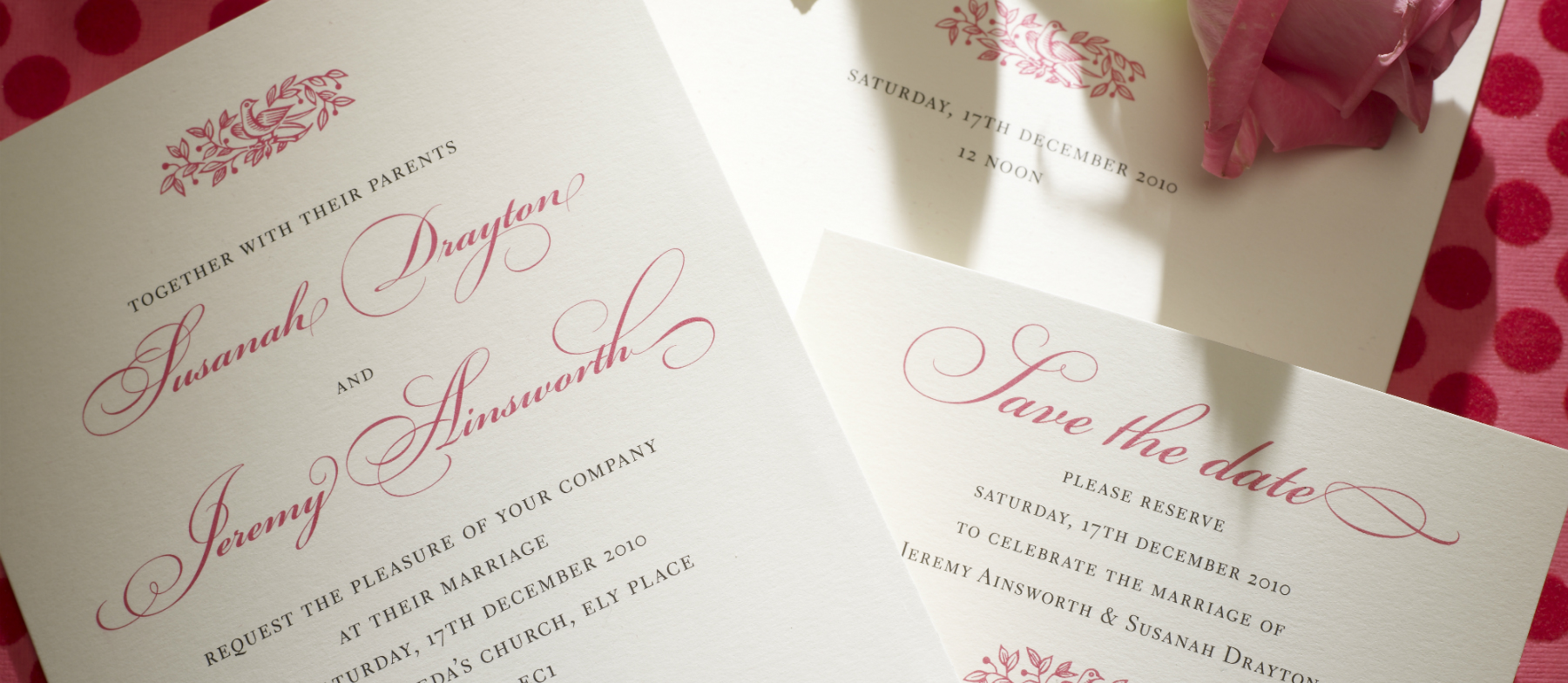 Electra Personalised Wedding Invitations | The Letter Press
