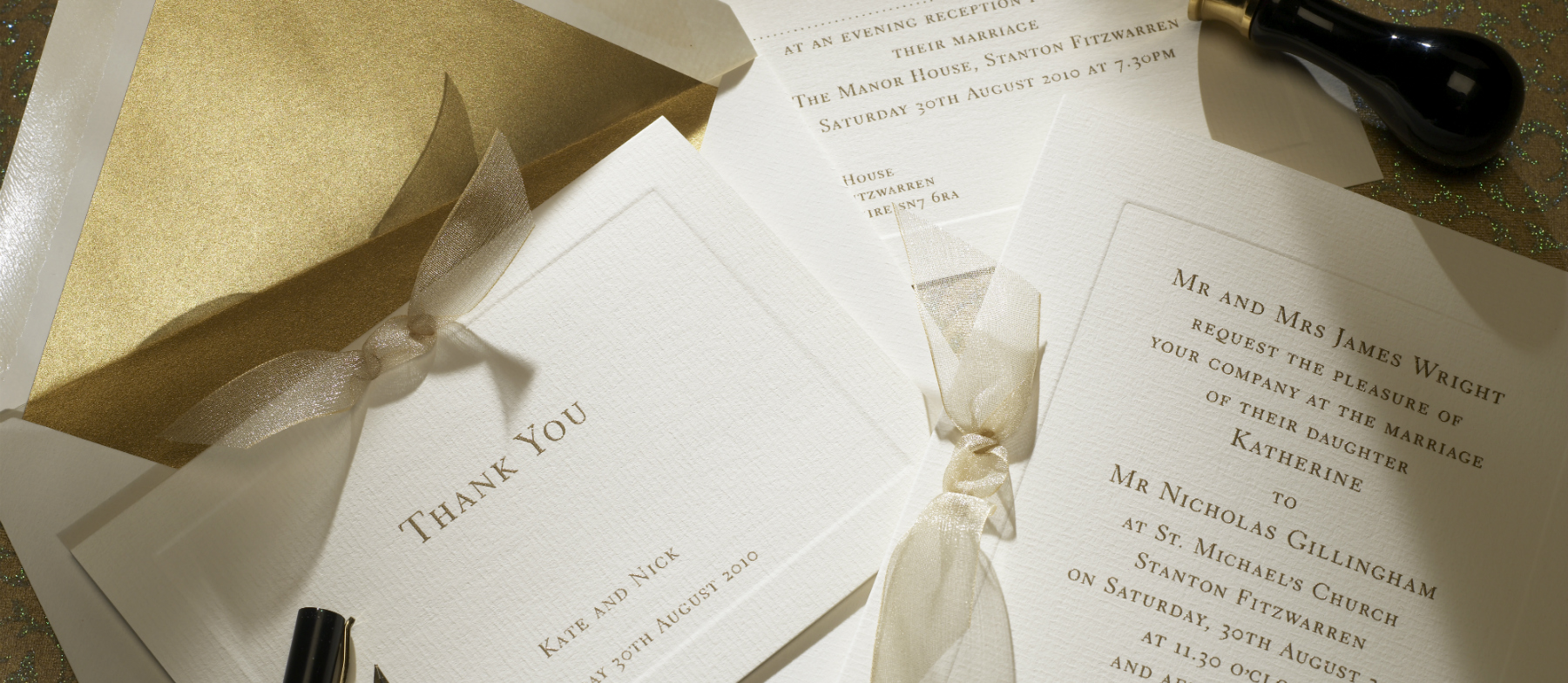 Ottoman Personalised Wedding Invitations | The Letter Press