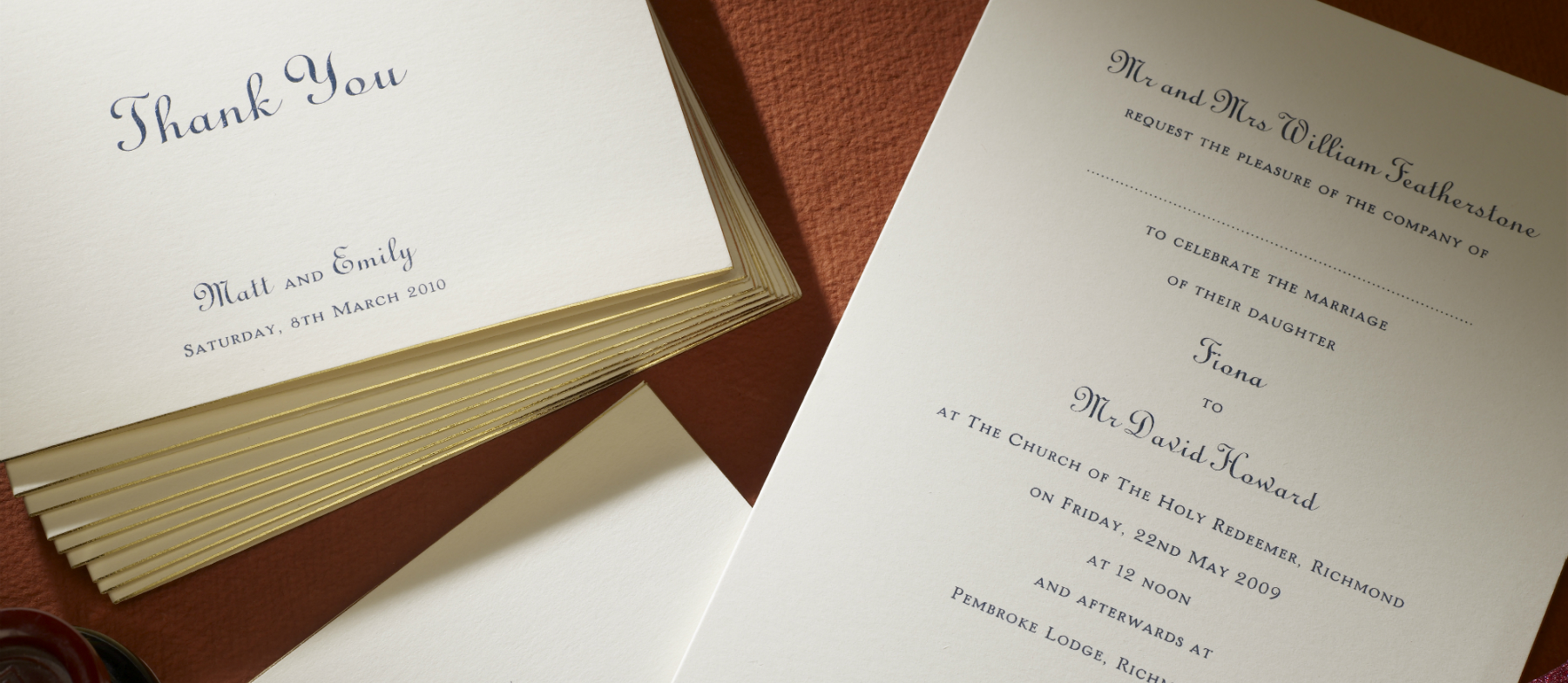 Park Avenue Personalised Wedding Invitations | The Letter Press