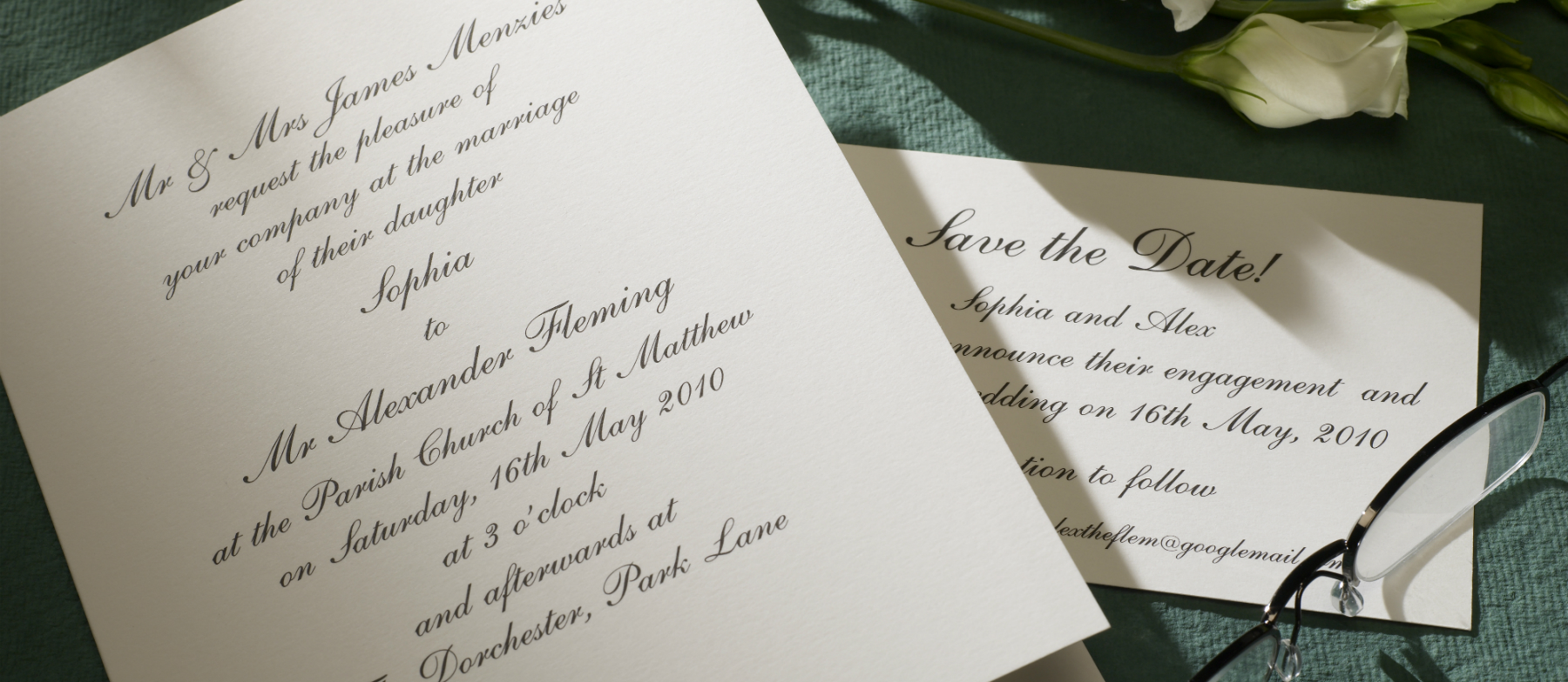 Wedding Invitations England: Shelley Personalised Wedding Invitations