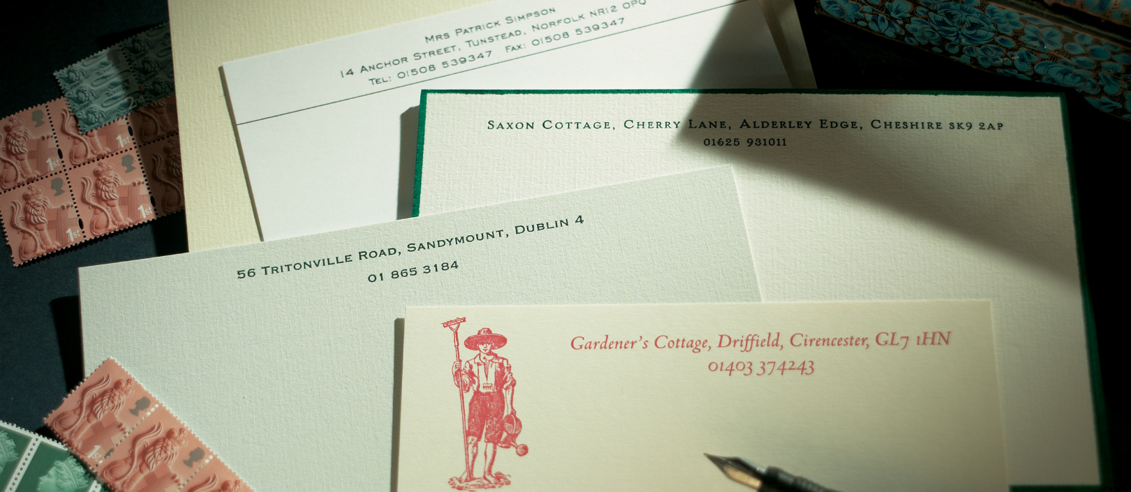 correspondence cards  the letter press
